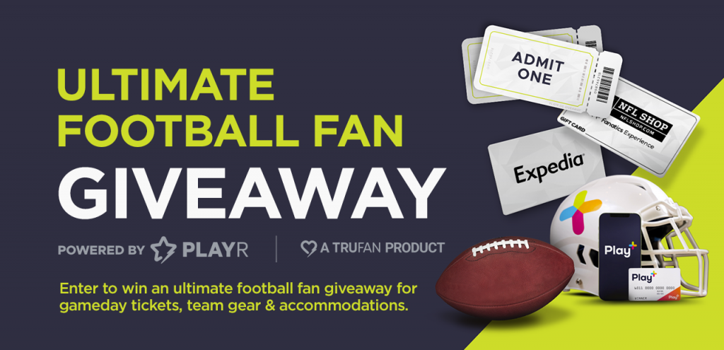 Ultimate Football Fan Giveaway. Enter to win an ultimate football fan giveaway for gameday dickets, team gear and accomodations